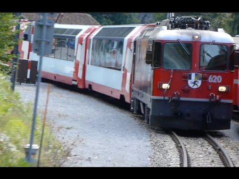 Swiss Trains: Glacier Express route, through the Rhine Gorge