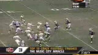 Repeat youtube video Top Ten crazy football finishes of all time