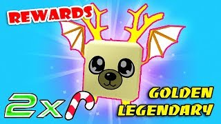 I GOT GOLDEN LEGENDARY PET TIER 80 With Event CANDY x2 IN BUBBLE GUM SIMULATOR!! (Roblox)