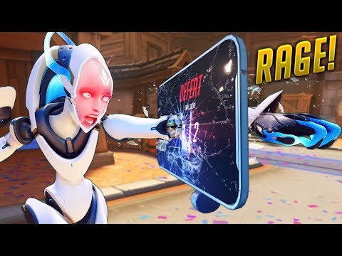 MAD RAGE MOMENTS - Overwatch Compilation