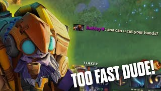 FAST HAND - Tinker Ana 7.06 - Top MMR Player Dota 2