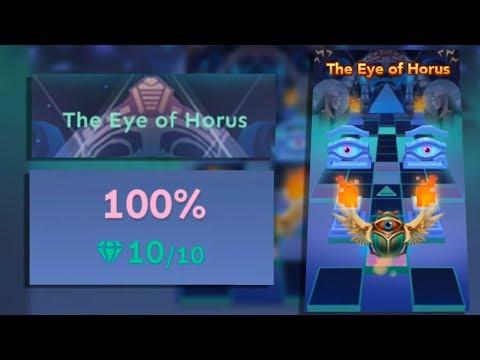 Rolling Sky Bonus Lv.14 The Eye of Horus 100% Clear - All Gems | SHA