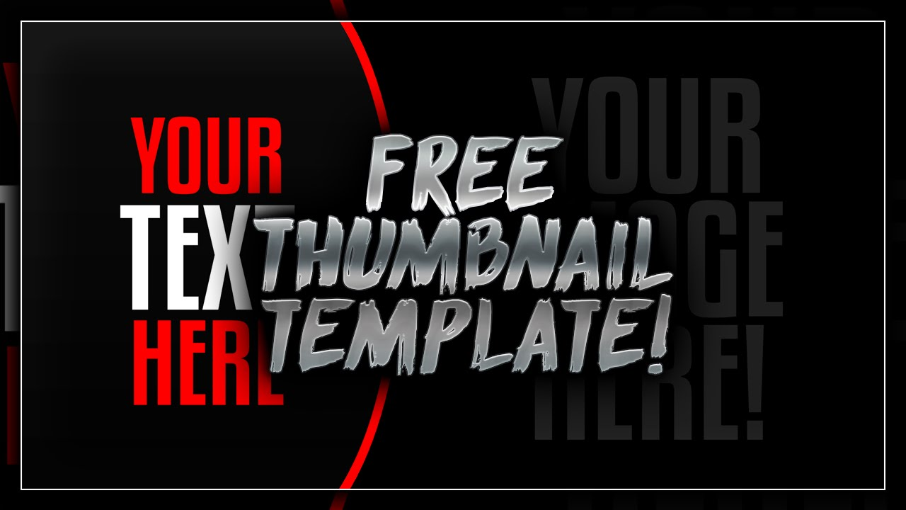 Free Thumbnail Template PSD - Free Download - Free GFX - YouTube