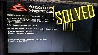 How to fix american megatrends errOr at boot (American Megatrends Inc versão 1.08) thumbnail