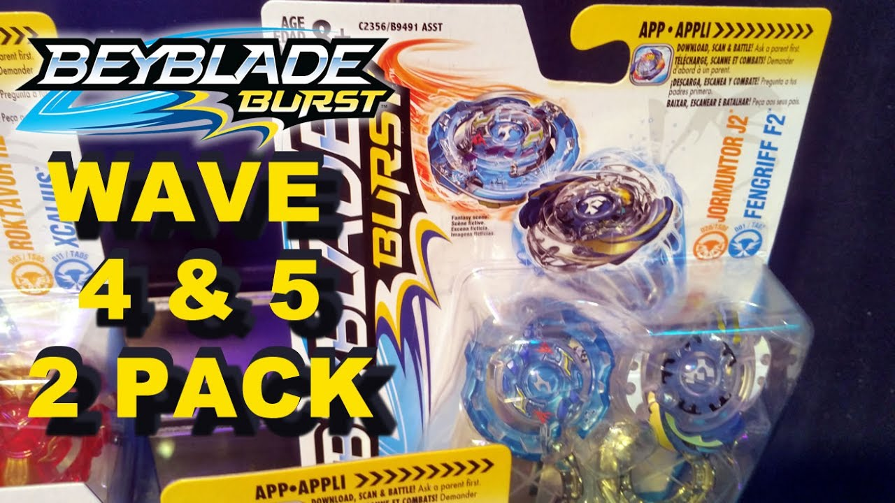 HASBRO UPDATE BEYBLADE BURST DUAL PACK WAVE 4 AND 5