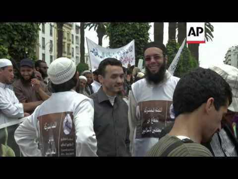 Hundreds of Salafis mark 10th anniversary of Casablanca bombings which killed 45