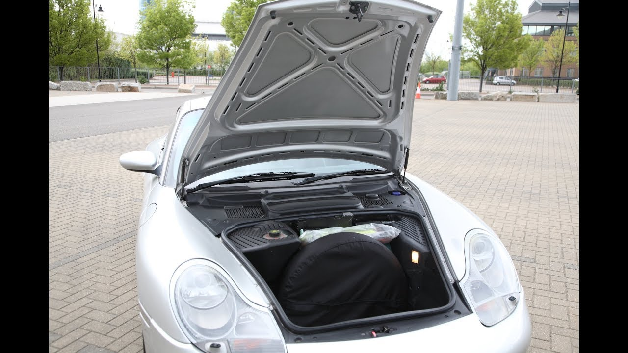 porsche 911 996 986 how to open bonnet hood trunk with flat or disconnected battery [ 1280 x 720 Pixel ]
