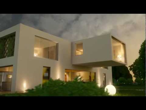 Maya 3d Mental Ray Animated Exterior Modern Villa Render Test Youtube