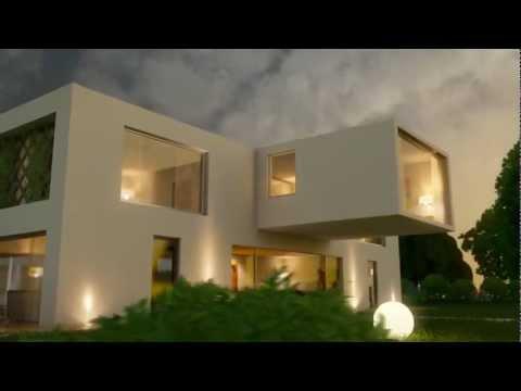 maya 3d mental ray animated exterior modern villa render test