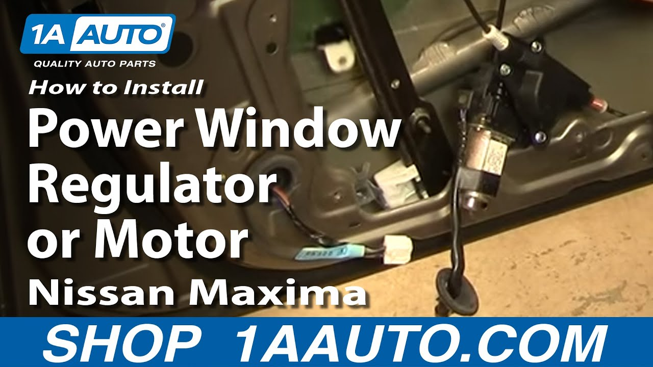 How To Install Replace Power Window Regulator or Motor Nissan Maxima ...