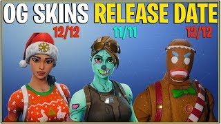 *NEW* Fortnite: OG SKINS RELEASE DATES! (Ghoul Trooper, Christmas Skins & More)