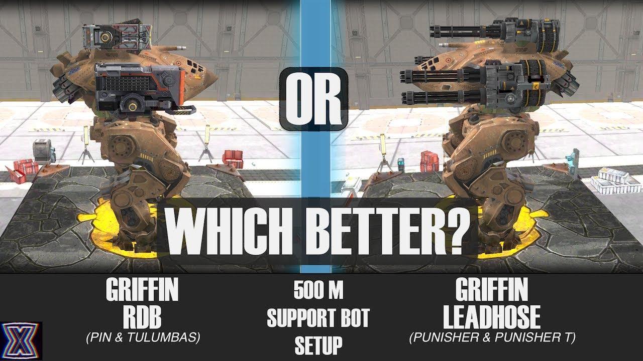 War Robots: Griffin 500m Support Bot Setup | Punisher Or ...
