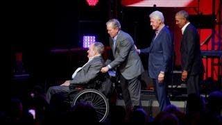 Die Ex-Präsidenten: Für dieses Event spricht Trump Obama seine tiefste Dankbarkeit aus