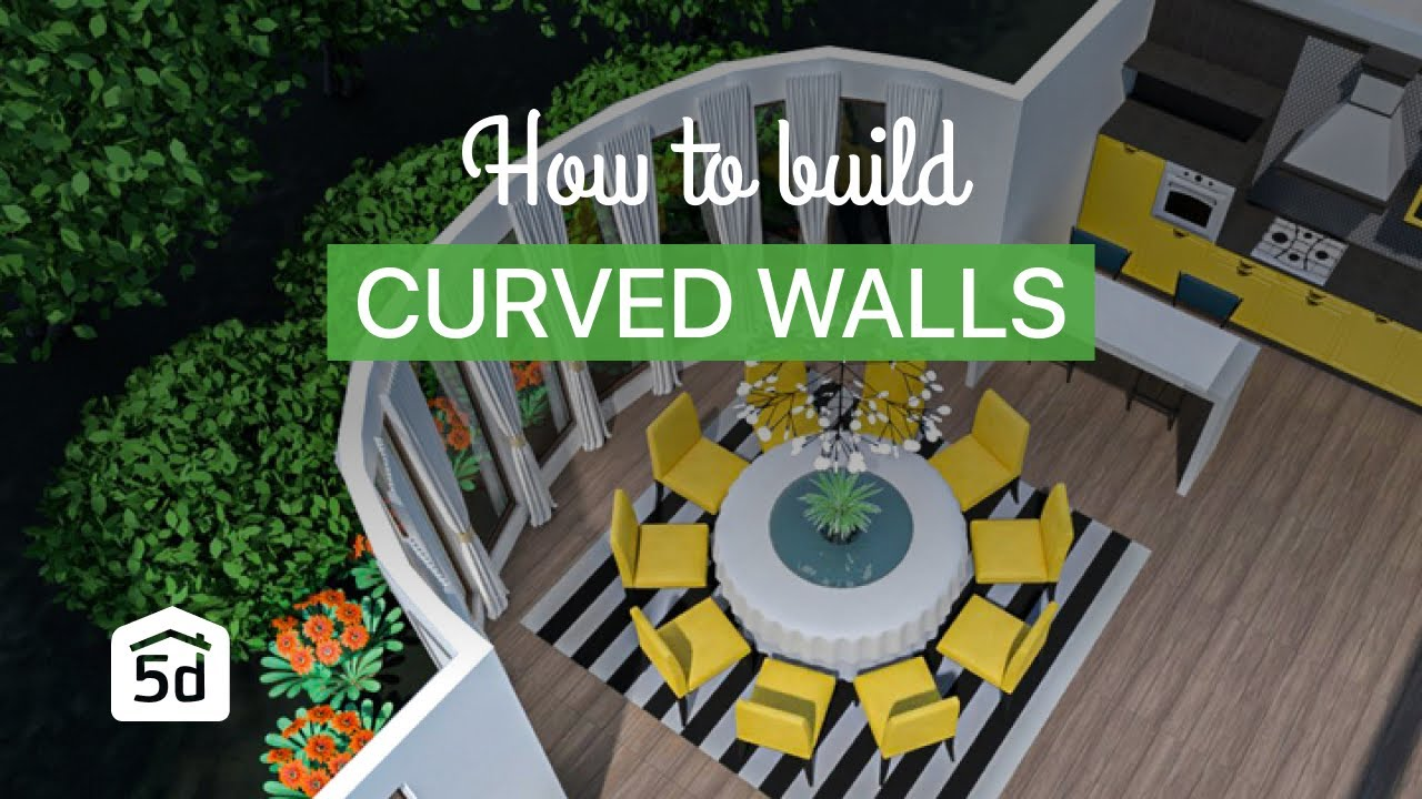 How To Build Curved Walls With Planner 5d Interior Design Software Youtube
