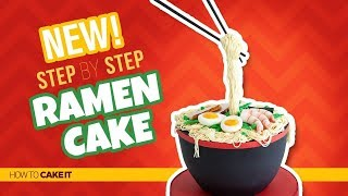 How To Make A Ramen Cake by Cassie Garner | Gravity Cake | How To Cake It Step By Step