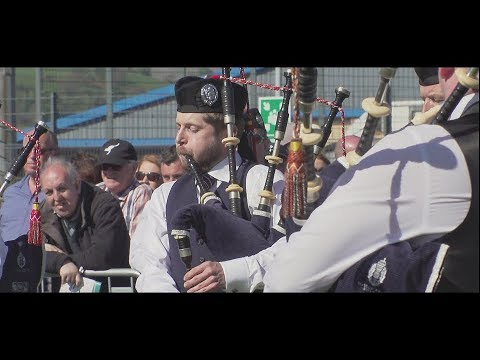Glasgow Police Pipe Band at the 2018 Gourock Highland Games