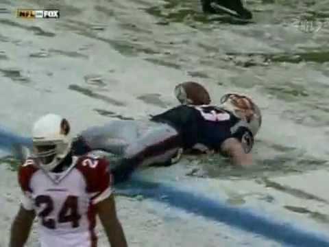 Wes Welker Touchdown Dance: Snow Angel (12/21/08)