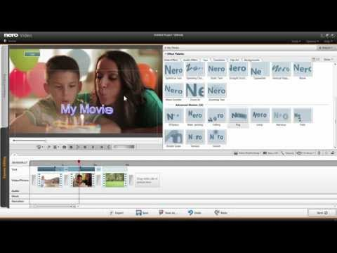 Using Easy Video and Text Editing in Nero Video Express Editing