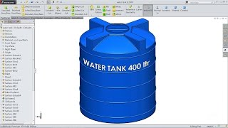 Solidworks tutorial | sketch Water tank in Solidworks (Advanced Surfacing)