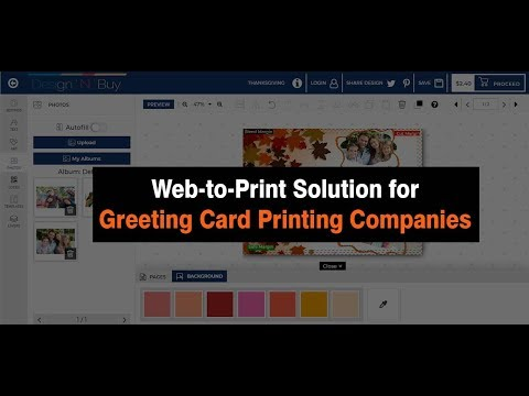 Web To Print Solution For Greeting & Invitation Card Printing Companies | Cards Designer