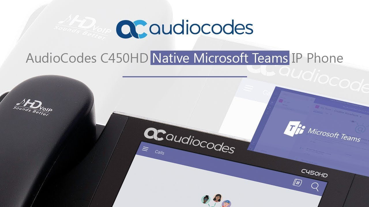 AudioCodes C450HD Native Microsoft Teams IP Phone