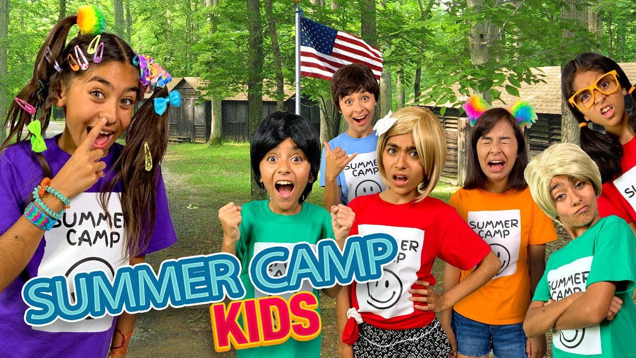 Types of Kids Summer Camp - Comedy Funny Skits // GEM Sisters