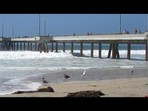 New Zealand waves hitting CA coastline...