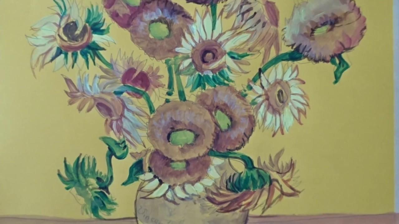 Matrimonio Girasoli Van Gogh : Girasoli di van gogh acrilico corso pittura con