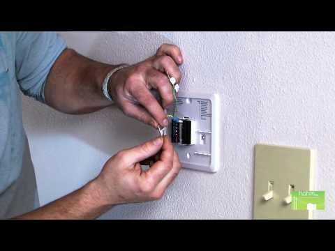 How To Install A Programmable Thermostat Youtube