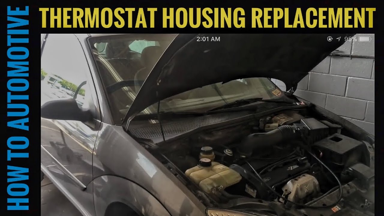 2003 Ford Focus Zx3 >> How to Replace the Thermostat Housing on a 2001 Ford Focus ...