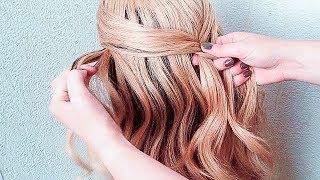 ПРОСТАЯ и КРАСИВАЯ прическа на длинные волосы на 1 сентября. Back to School  2018
