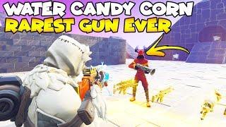 Shop Keeper Shot Water Candy Corn Rarest Gun EVER! 🥵😱 (Scammer Gets Scammed) Fortnite Save The World