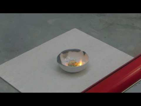 """Negative X"" fire starts with water (Zinc, Ammonium nitrate and Sodium chloride)"