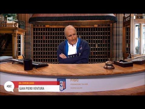 Gian Piero Ventura (Ubaldo Pantani) alla reception della FIGC - Quelli che il calcio 05/11/2017