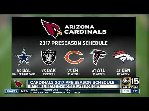 Arizona Cardinals Release 2017 Preseason Schedule