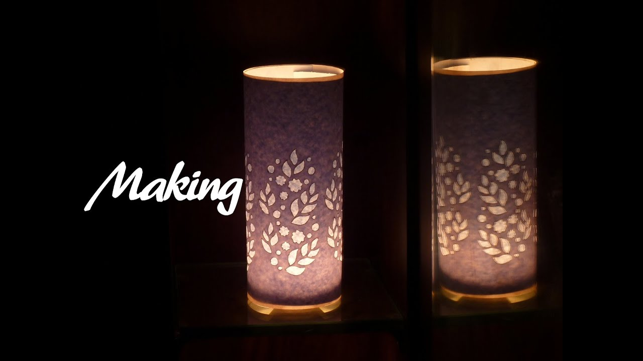 Cutart tutorial making paper cut lampshade youtube mozeypictures Gallery