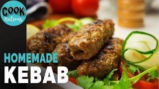HomeMade Kebab Recipe | Easy Kebab Recipe | How to Make Kebab at Home | Kofta Kebab