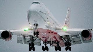 Boeing 747-446 EI-XLI Rossiya Airlines Approach and landing in Vnukovo