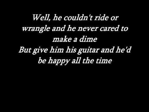 Johnny Cash - Tennessee flat top box with lyrics