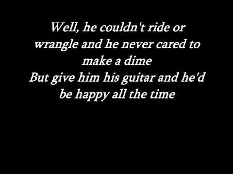 Johnny Cash - Tennessee flat top box with lyrics