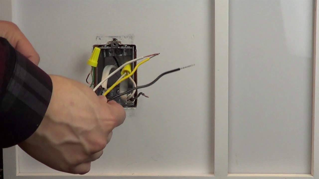 Wiring A Control With 1 Black Wires, One Yellow Wire, And