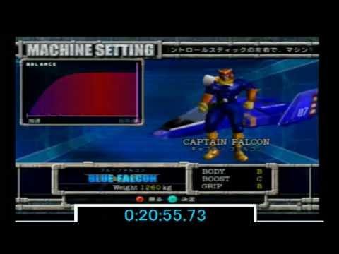 """【Update】F-ZERO GX Story Mode VERY HARD Speedrun 23'29""""10"""