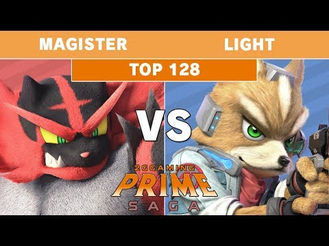 2GG: Prime Saga - Magister (Incineroar) Vs. Rogue | Light (Fox) Top 128 - Smash Ultimate