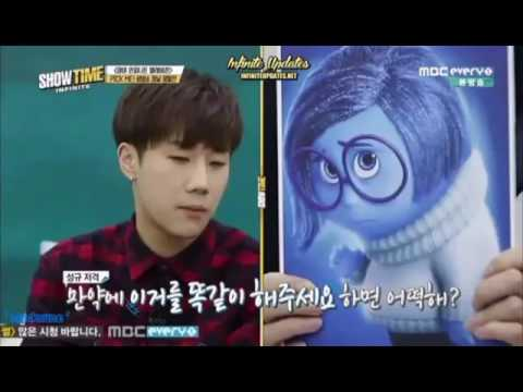 When (cute hamster) Sunggyu is having a hard time [Eng Sub]