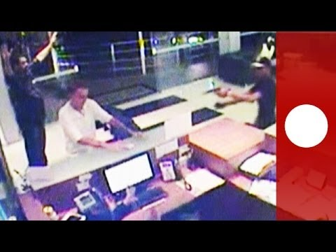 Armed robbery in hospital caught on CCTV in Brazil