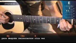 "Cómo tocar ""Brillas"" de León Larregui en Guitarra (HD) Tutorial Acordes - Christianvib"