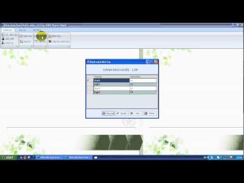 Phần mềm quản lý học sinh THCS