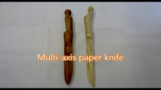 Woodturning Multi-axis Paper Knife
