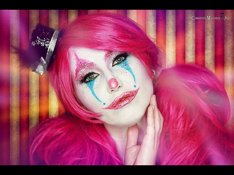 Cute Glitter Clown Make Up Tutorial