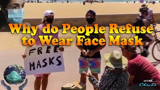 Free masks video Huntington Beach - People refuse to wear face mask - Coronavirus pandemic frontline